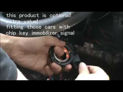 bypass module installation video  chip key immobilizer