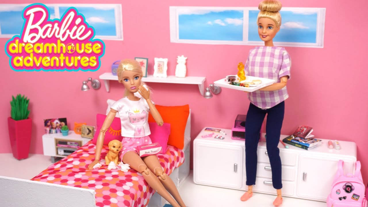 Barbie Sick Day Morning Routine - Dreamhouse Adventure Toys