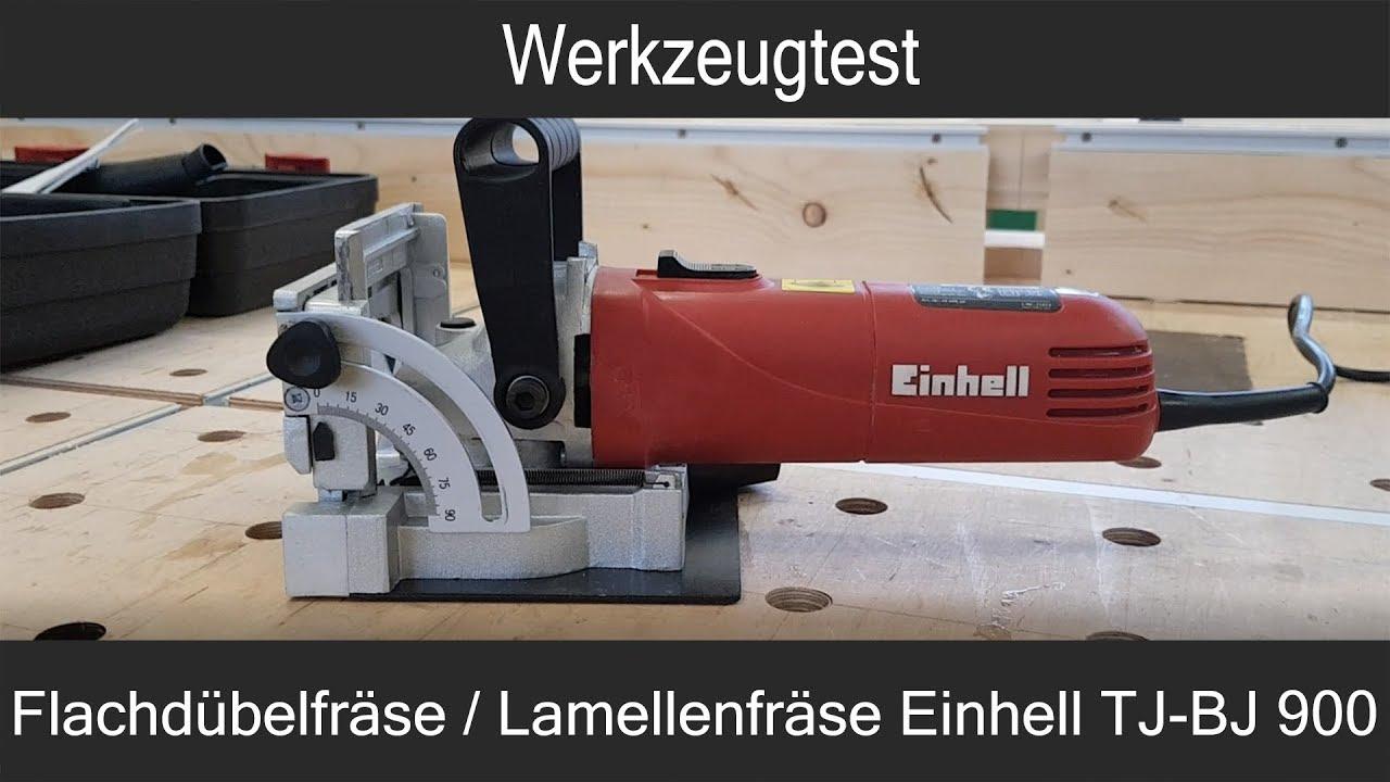 werkzeugtest flachdübelfräse / lamellenfräse einhell tc-bj 900 - youtube
