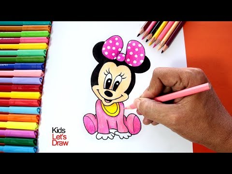 Dibujo De Minnie Mouse Bebe Aprende Cómo Dibujar A Mini Mouse Paso A Paso