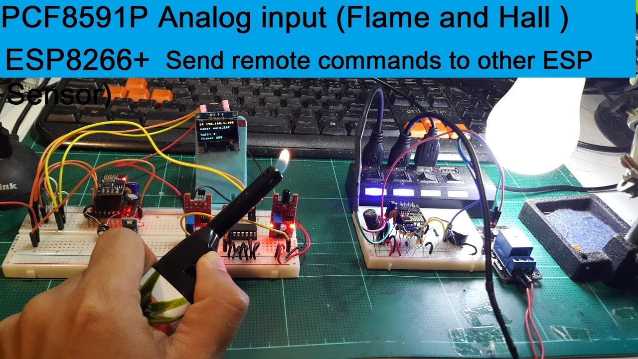 ESP8266(ESPEasy), PCF8591P Analog input (Flame,Hall Sensor)+Send remote cmd  to other ESP(Addt1) by joeGTEC krab