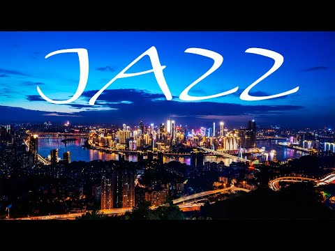 Relaxing Night Jazz Playlist - Smooth JAZZ &  Lights of Night City - Night Traffic JAZZ