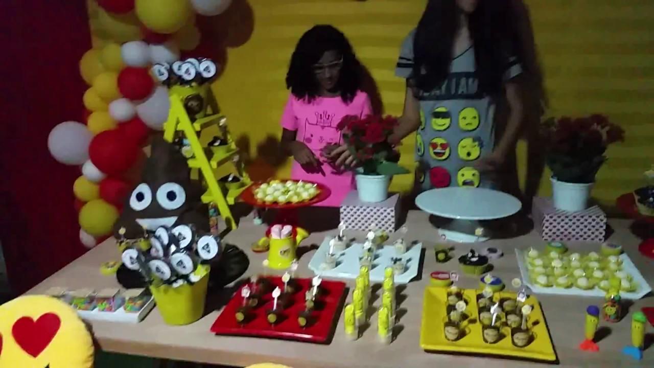 Meu look da Festa do pijama tema EMOJI CAZAMIGAS #anajuliafaz11 #Parte 3 YouTube -> Decoração De Festa Tema Emoji