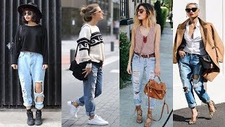 How To Style Boyfriend Jeans Outfit Ideas