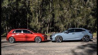 2017 Hyundai i30 SR vs Honda Civic RS: 0-100km & engine sound