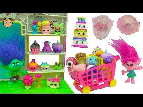 Season 7 Shopkins with Party Topkins Surprise Blind Bags with Trolls Poppy + Branch