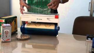 MITSUMI EASY CUT Cling Film Wrap Cutter Demo By Mitsumi Electronics Private Limited,New Delhi