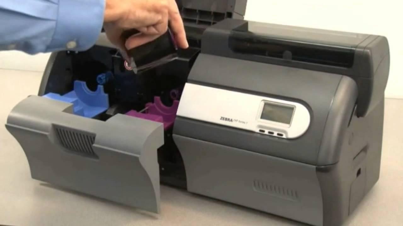 Zebra ZXP Series 7 ID Card Printer - How to Load Ribbons - YouTube c70e3eb53