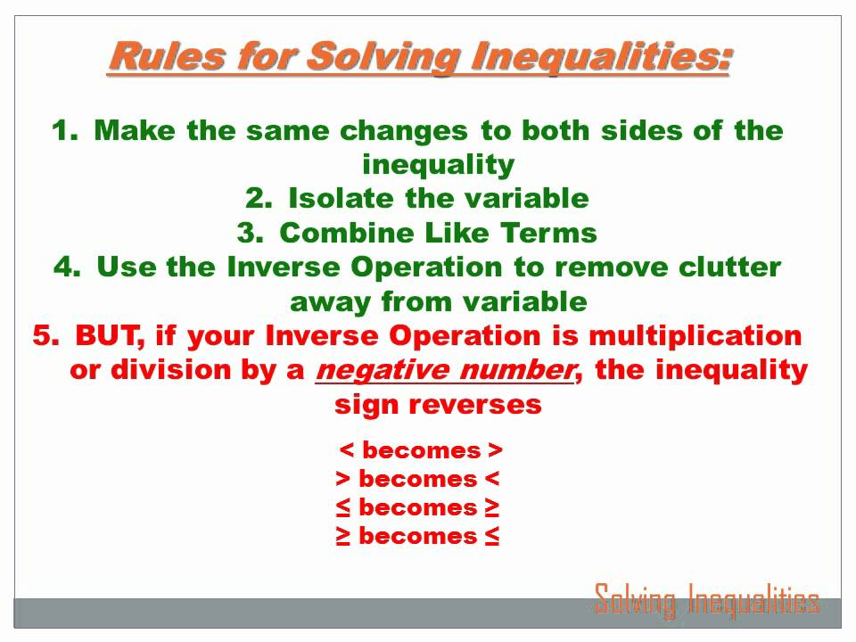 Algebra - Solving Inequalities: 7th grade math - YouTube
