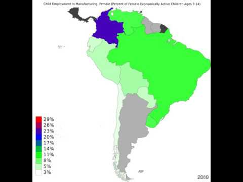 South America - Child Employment In Manufacturing, Female - Time Lapse