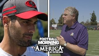 Jimmy Garoppolo couldn't be happier with health of knee (FULL INTERVIEW) | NBC Sports