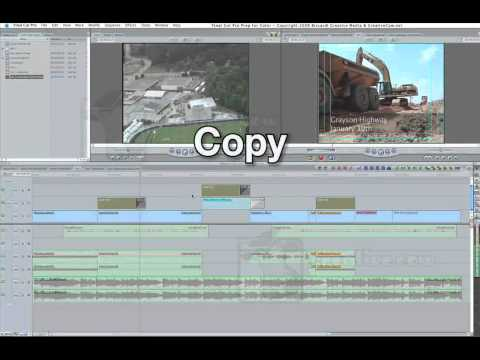 Preparing Your Sequences To Go From FCP To Color