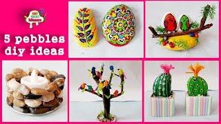 5 pebbles diy ideas # pebbles # DIY art And Crafts || arush diy craft ideas