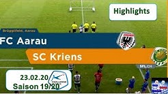 Highlights: FC Aarau vs SC Kriens (23.02.2020)