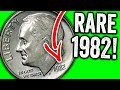EXPENSIVE 1982 DIMES WORTH MONEY - RARE DIME COINS TO LOOK FOR IN POCKET CHANGE!!