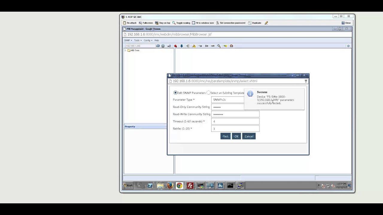 HP IMC MIB browser