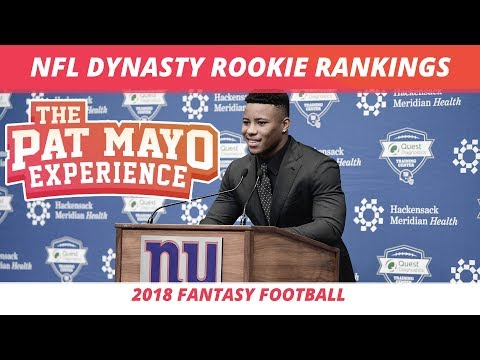 2018 Fantasy Football Rookie Dynasty Rankings and Rookies in Season Long