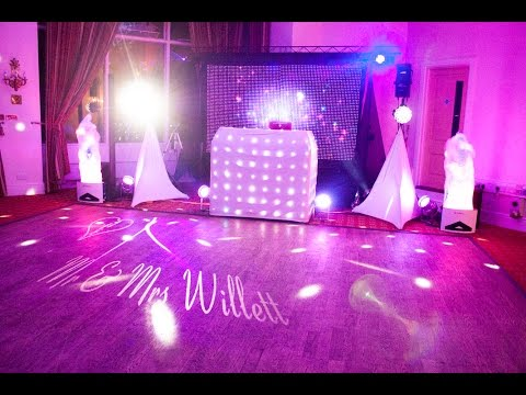 2disco Large White Set Up for Mr and Mrs Willett 21 02 15 Lynford Hall Hotel