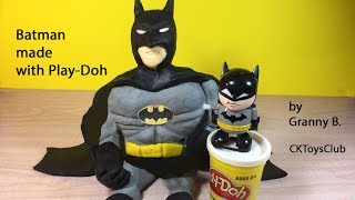 How to make Batman with Play Doh. Granny B. shows you how it is done...