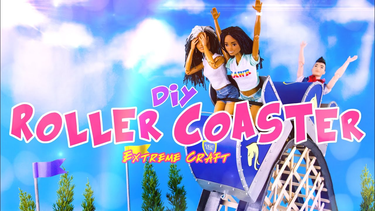 DIY - How to Make a Doll Roller Coaster | EXTREME CRAFT