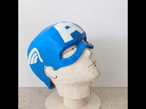 Diy Captain America Mask Part 3 Paint Cosplay Youtube