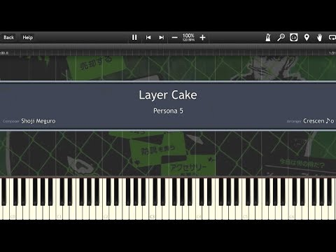 【Persona 5】Layer Cake「Piano Cover (Synthesia)」