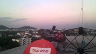 Nakhonsawan from Bonito Chinos Hotel roof floor.