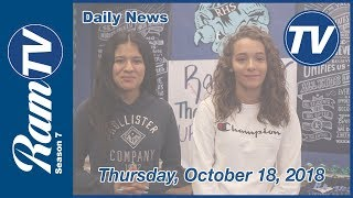 Ramona Daily News - October 18, 2018