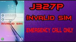 Samsung sm-j327p Network Unloack invalid sim card emergancy