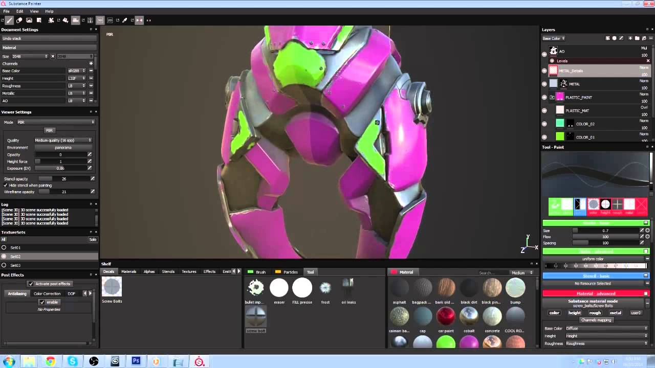 Substance Painter tutorial: Texture a game robot