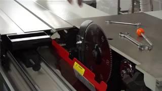 наладка форматно-раскроечного станка Holztechnik (видео обзор)