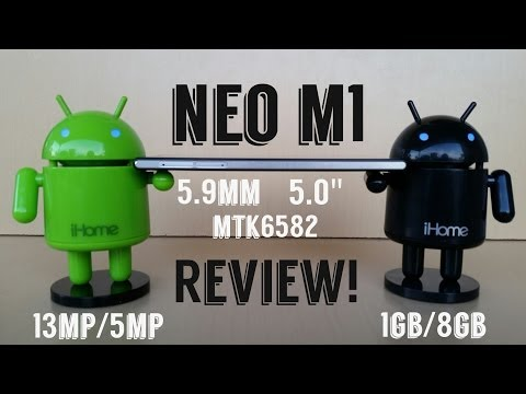 NEO M1 MTK6582 1.3GHz 1GB/8GB 5.9mm 13MP NEOMOBILE.ME - Review!