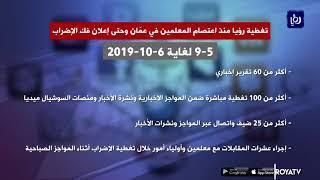 رؤيا خلال تغطية أزمة إضراب المعلمين.. بالأرقام (6/10/2019)