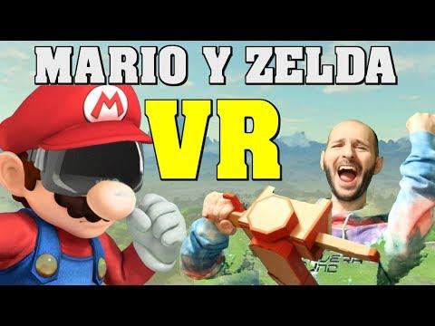 ¡MARIO Y ZELDA EN VR! - Nintendo anuncia Breath of the wild VR - Sasel - odyssey - switch