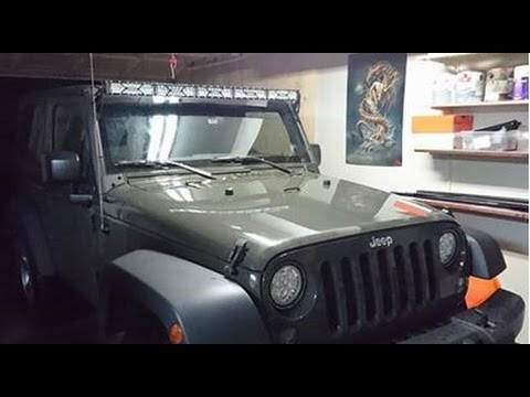 HOW TO MOUNT AND WIRE 50 OR 52 INCH LIGHT BAR ON JEEP WRANGLER JK