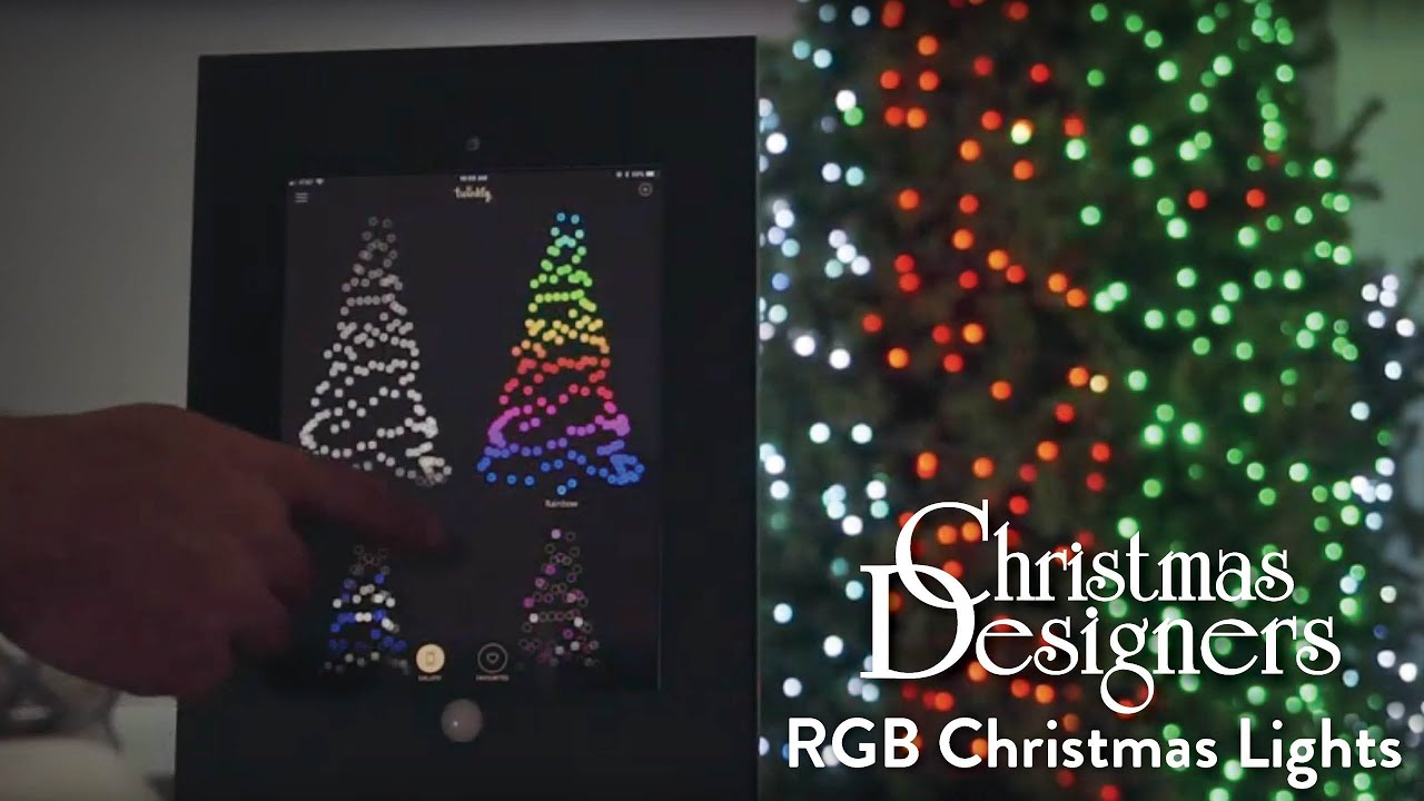 Twinkly Pro Rgb Christmas Lights In Action Christmas Designers Youtube