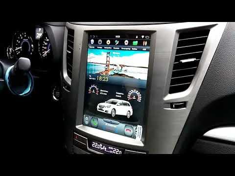 Subaru Legacy Outback Штатная магнитола в стиле Tesla