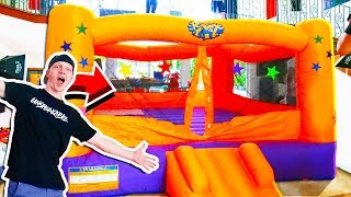 MASSIVE INFLATABLE BOUNCY CASTLE FORT INSIDE A MANSION!