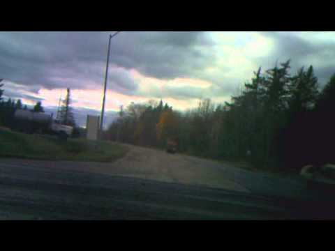 A drive on Northcutt Road, Loring, Maine, on October 9, 2010
