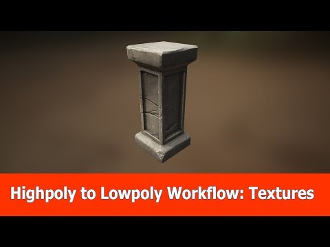 High poly to Low poly workflow: Texturing with Substance Painter (6)