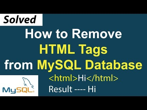 How To Remove HTML Tags From MySQL Database