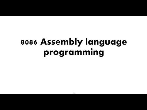 8086 Assembly Language | Part 01 - Introduction To Assembly Language