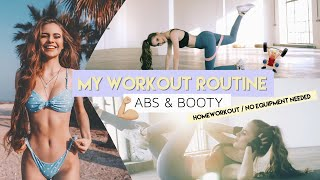 My workout Routine - Abs & Booty Exercises // No equipment