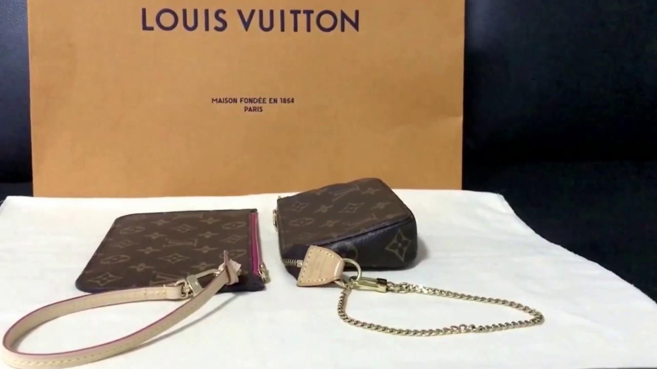 276565ff682b เปรียบเทียบ Louis Vuitton - mini Pochette VS Neverfull Pochette ...