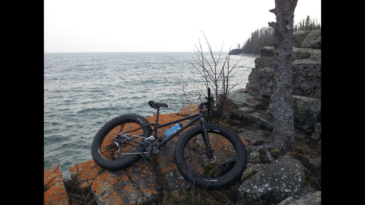 Exploring Lake Superior Shores. Surly Pugsley Necromancer ...