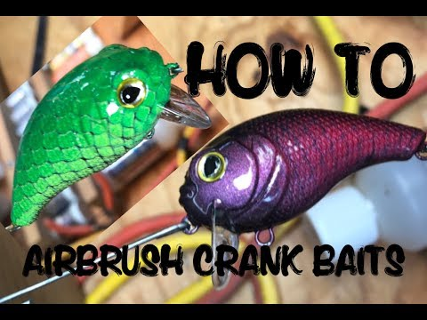 How to Airbrush fishing lures