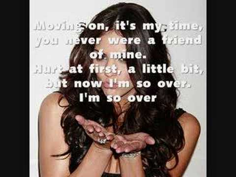 Over It Katharine Mcphee With Lyrics Youtube