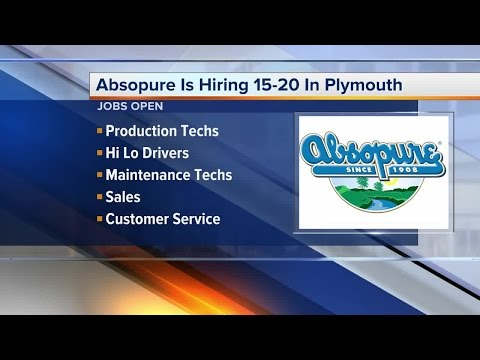 Workers Wanted: Absopure is hiring 15-20 in Plymouth