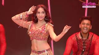 Dancing Queen NORA FATEHI glamorous Performance @ Vanitha Film Awards 2020 Part 26