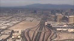 Las Vegas-Miami flight: 1st-class breakfast, El Paso-Juárez, Everglades, aborted landing 2016-12-14